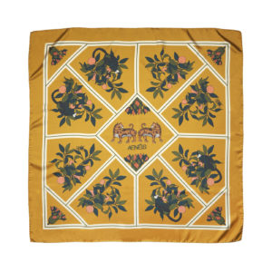 Exotic Dream silk scarf Dusty Gold