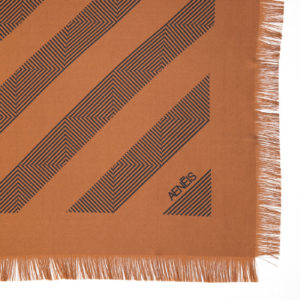 Geometric Mirage print silk scarf Terracotta