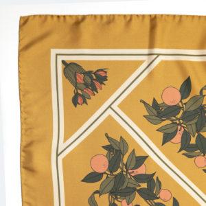 Exotic Dream silk scarf Dusty Gold