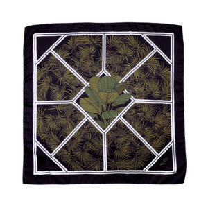 Botanical Illusion silk scarf