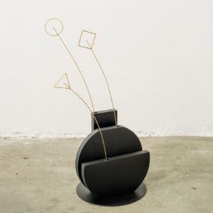 Vase Single Flower Black