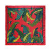 Geometric Mirage print silk scarf Black