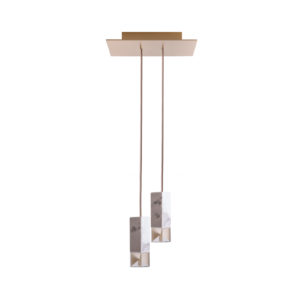 Lamp/One Brass Duet Chandelier Delisart