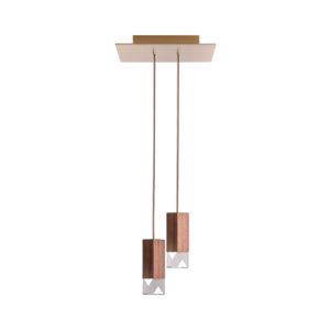 Lamp/One Wood Duet Chandelier
