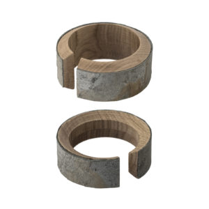 Corteccia Wood Bracelet Set of 2