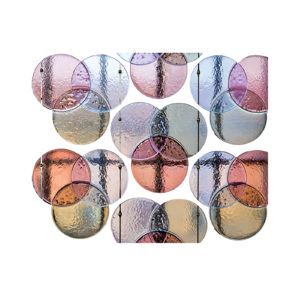 Wave Glass Panel Set of 3 Delisart