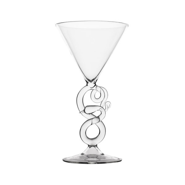 Serpentine Martini Glass