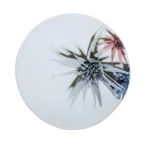 Fiore Plate Grey Green Medium Set of 2