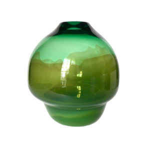 Volcano Glass Vase Green Large Delisart