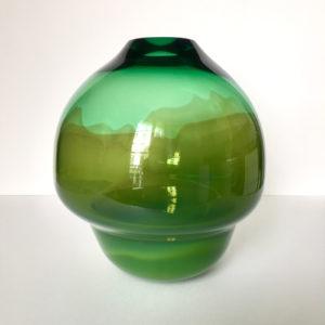 Volcano Glass Vase Green Small