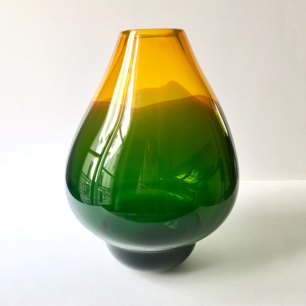 Volcano Glass Vase Green Large