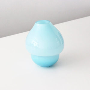 Volcano Glass Vase Azure Small