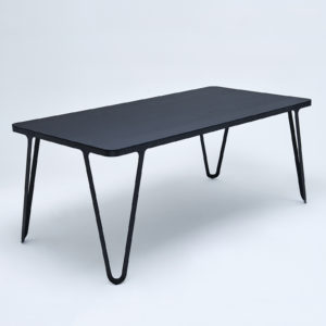 Loop Table Oak Black Stained