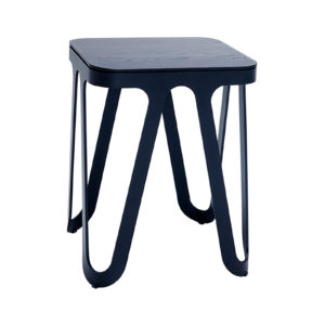 Steel Stand Black Oak Table Delisart