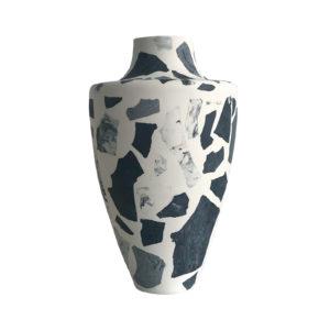 Terrazzo Vase Dark Blue
