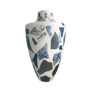 Terrazzo Vase Pink-Blue Delisart