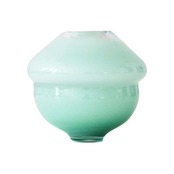 Volcano Glass Vase Turquoise Small