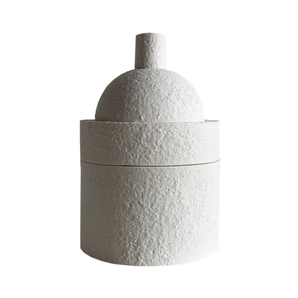 Moth to a Flame Scented Candle White Dome Small