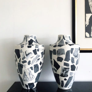 Terrazzo Vase Pink-Blue