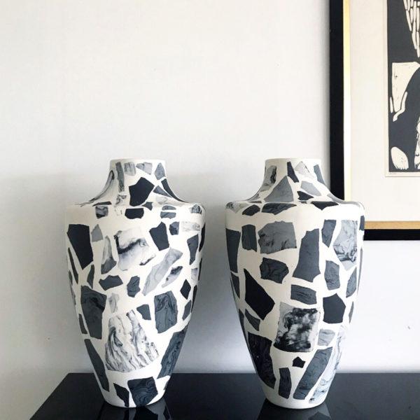 Terrazzo Vase Light Blue