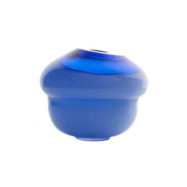 Volcano Glass Vase Blue Small