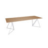 Steel Stand Black Oak Table