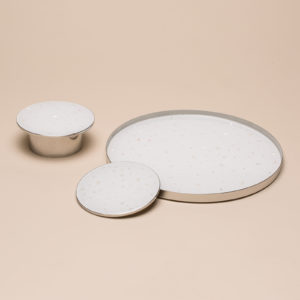 Nacre Coaster White Set of 2