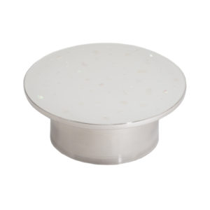 Nacre Coaster White Set of 2 Delisart