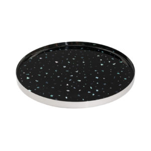 Nacre Large Tray Black Silver