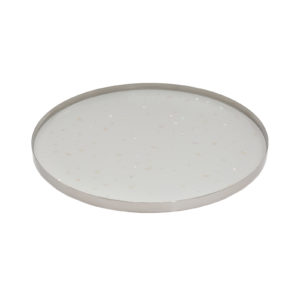 Nacre Large Tray White Silver