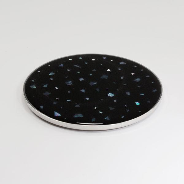 Nacre Coaster Black Set of 2
