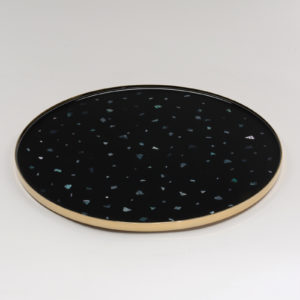 Nacre Medium Tray Black Gold
