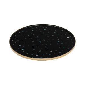 Nacre Coaster Black Set of 2 Delisart