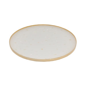 Nacre Medium Tray White Gold