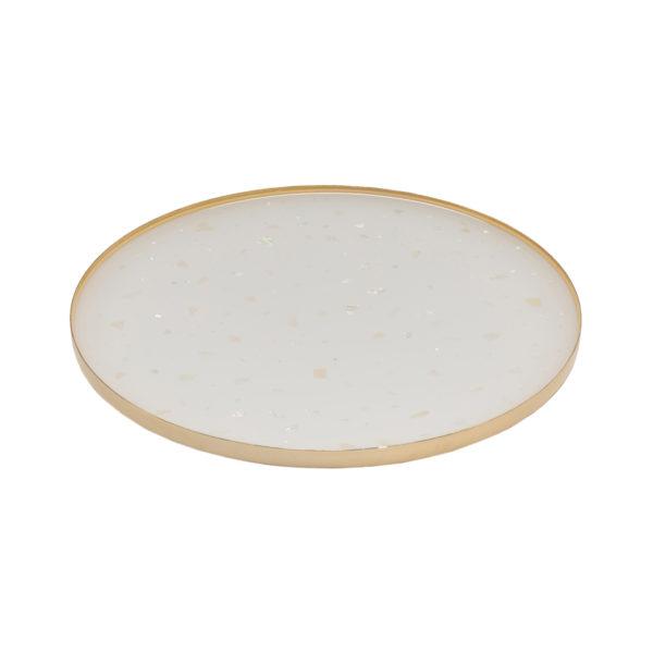 Nacre Medium Tray White Gold