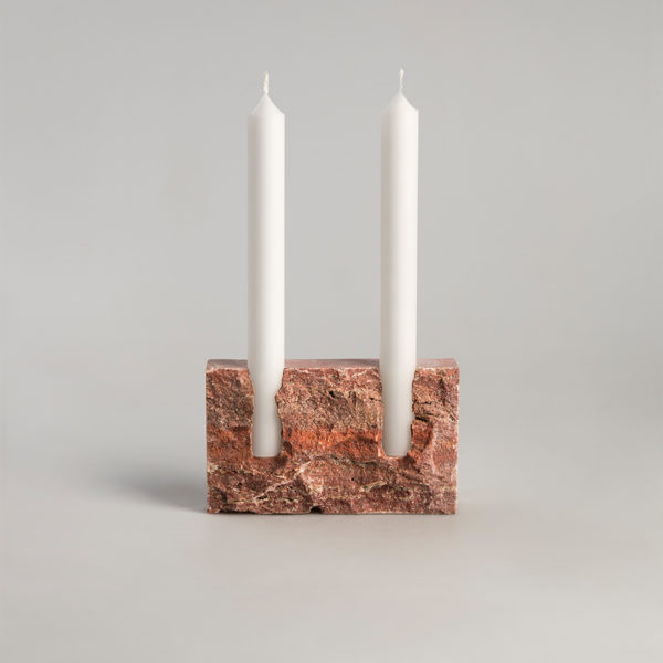 Snug Red Candle Holder