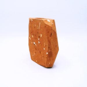 Terracotta Block Vase