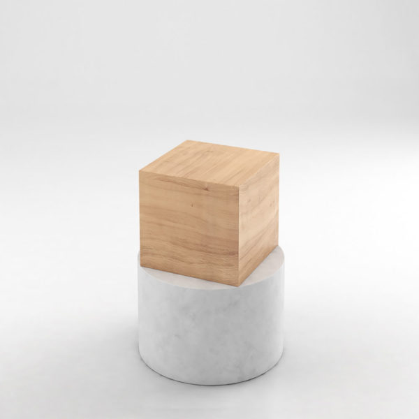 Box and Cylinder Side Table