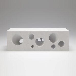Cubes with intersecting tubes Side Table
