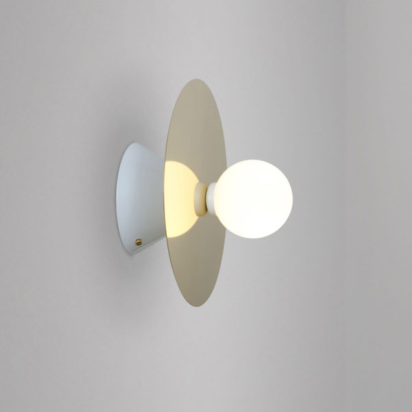 Disc and Sphere Symmetrical Wall Sconce