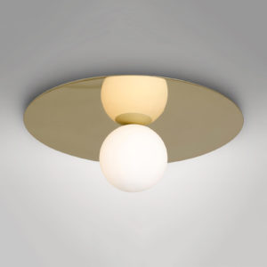 Plate and Sphere Ceiling Lamp 01