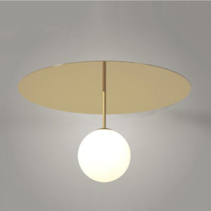 Plate and Sphere Ceiling Lamp 02