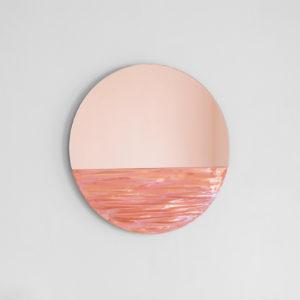 Orizon Coral Pink Round Mirror