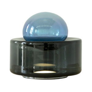 Dew + Drop Iridescent Blue Table Lamp