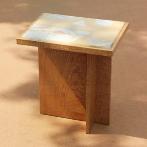 Fragment Wood Side Table