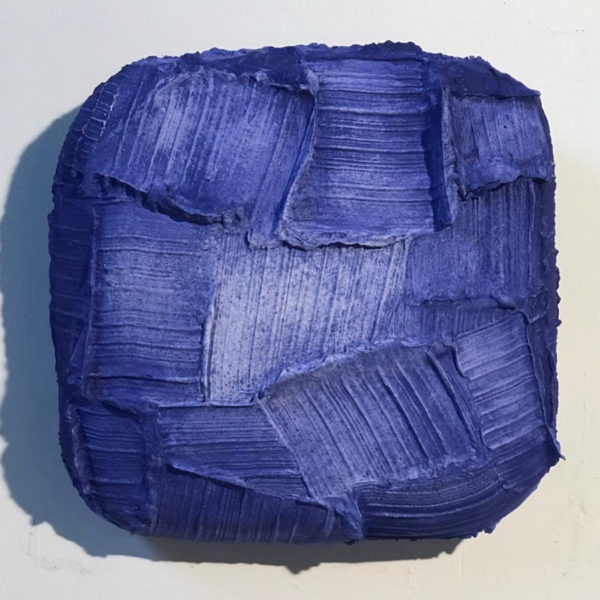 Blue Painted Sculpture 02