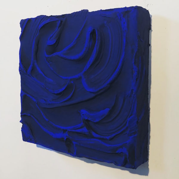 Ultramarine Painted Sculpture 04