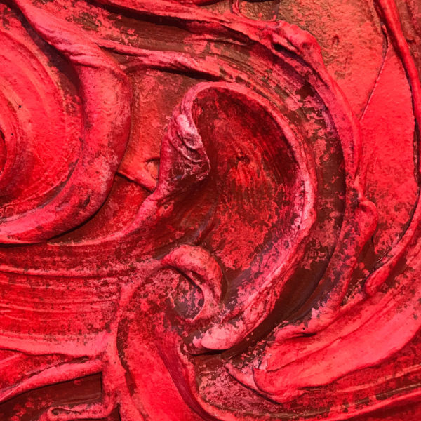 Red Painted Sculpture 03