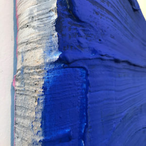 Ultramarine Painted Sculpture 05