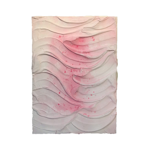 White Pink Painted Sculpture